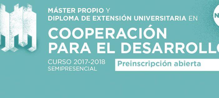 Máster Propio y Diploma de Extensión Universitaria en Cooperación para el Desarrollo