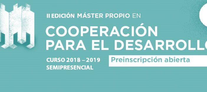 Segunda edición del Máster Propio en Cooperación para el Desarrollo