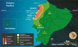 Mapa terremoto Ecuador