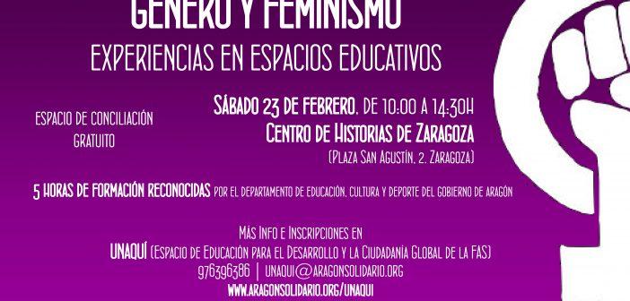 """Jornada """"Género y Feminismo: experiencias de trabajo en espacios educativos"""""""