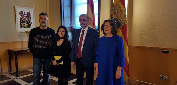 Un día… nos reunimos con la presidencia del Gobierno de Aragón.