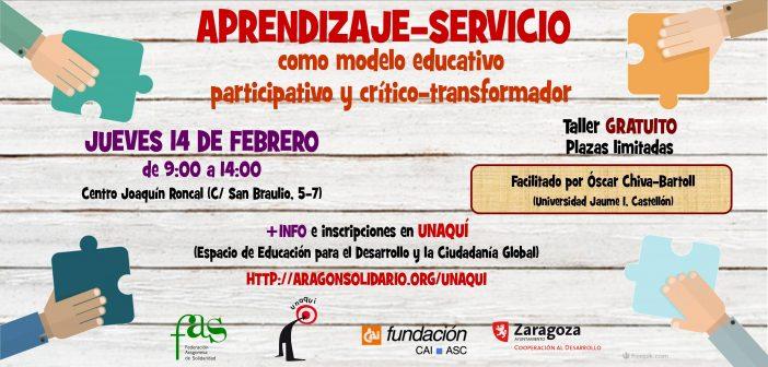 """Taller de formación """"Aprendizaje-Servicio como modelo educativo participativo y crítico-transformador"""