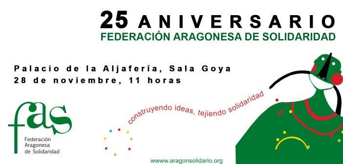 Acto de conmemoración del 25 aniversario Federación Aragonesa de Solidaridad