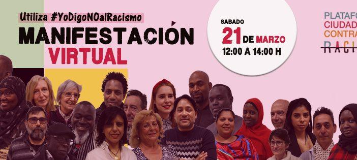Manifestación virtual contra el racismo y la xenofobia