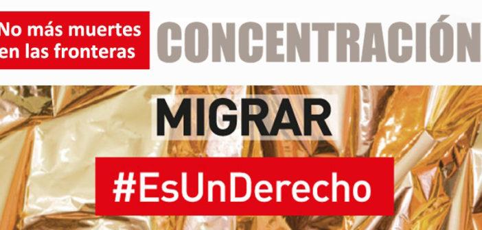 CONCENTRACIÓN por las 256 personas fallecidas en lo que va de año y según la OIM tratando de llegar a costas españolas.